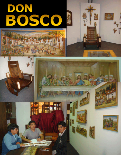 """Exhibicion de artesanos """"Don Bosco"""" en Trujillo"""